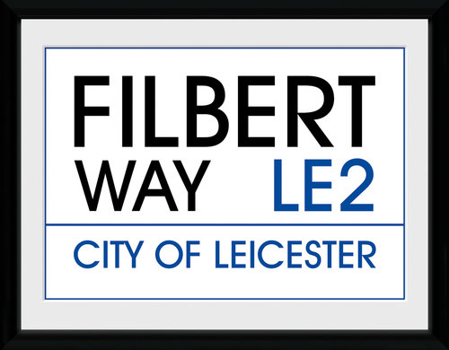 Leicester Street Sign Framed Collector Print