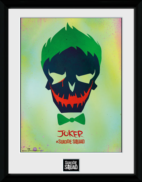 Suicide Squad Joker Skull Framed Collector Print