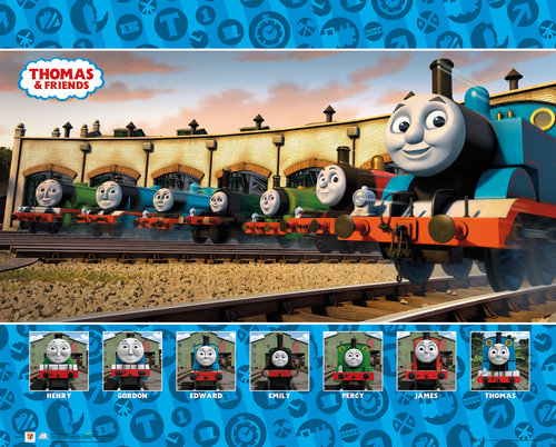 Thomas and Friends Group Mini Poster