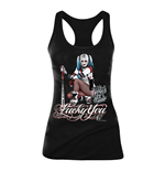 DC COMICS Women's Suicide Squad Harley Quinn Lucky You Tanktop, Medium, Black