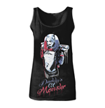 DC COMICS Women's Suicide Squad Harley Quinn Daddy's Little Monster Tanktop, Small, Black