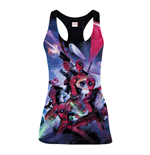 MARVEL COMICS Women's Deadpool Family Sublimation Tanktop, Medium, Multi-Colour