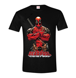 MARVEL COMICS Men's Deadpool Pose T-Shirt, Small, Black