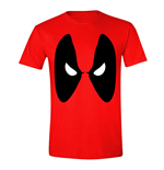 MARVEL COMICS Men's Deadpool Angry Eyes T-Shirt, Small, Red