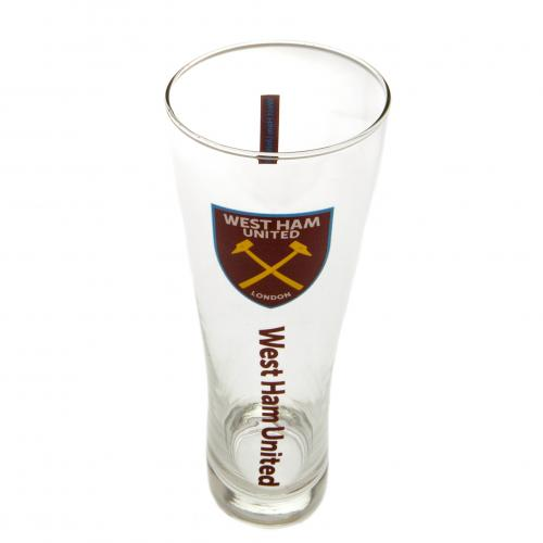 West Ham United F.C. Tall Beer Glass