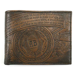 BUDWEISER Brown Embossed Leather Bifold Wallet