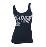 NATURAL LIGHT Faded Blue Ladies Tank Top