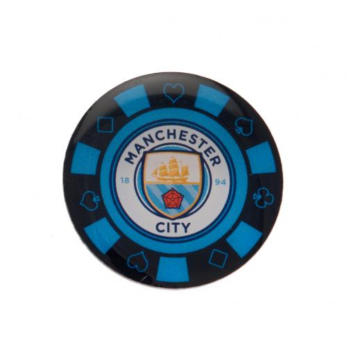 Manchester City F.C. Poker Chip Badge