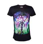NINTENDO Legend of Zelda Men's Majora's Mask Dark Link T-Shirt, Medium, Black