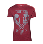 UNCHARTED 4 A Thief's End Men's Mortem Inimicis Suis T-Shirt, Large, Red
