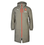 2016-2017 Arsenal Puma Long Bench Coat Jacket (Grey)