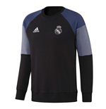 2016-2017 Real Madrid Adidas Sweat Top (Black)