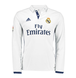 2016-2017 Real Madrid Adidas Home Long Sleeve Shirt (Kids)