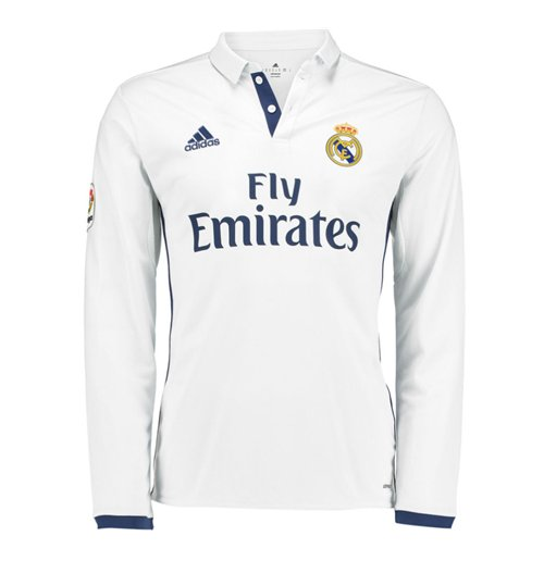 2016-2017 Real Madrid Adidas Home Long Sleeve Shirt