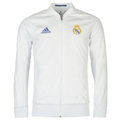 new concept d00ea d08a1 2016-2017 Real Madrid Adidas Anthem Jacket (White)