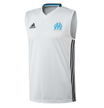 2016-2017 Marseille Adidas Sleeveless Shirt (White)
