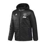 2016-2017 Man Utd Adidas Padded Jacket (Black)