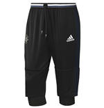 2016-2017 Man Utd Adidas Three Quarter Length Pants (Black)