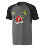 2016-2017 Chelsea Adidas Training Tee (Dark Grey)