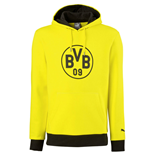 2016-2017 Borussia Dortmund Puma Badge Hoody (Yellow)