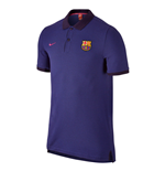 2016-2017 Barcelona Nike Authentic Polo Shirt (Purple)