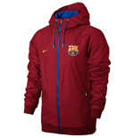 2016-2017 Barcelona Nike Authentic Windrunner Jacket (Red)