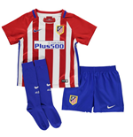 2016-2017 Atletico Madrid Home Nike Little Boys Mini Kit