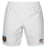2016-2017 West Ham Home Football Shorts (White)