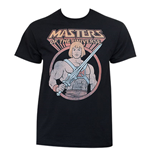 He-Man Masters Of The Universe Faded Black Tee Shirt