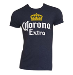CORONA EXTRA Men's Navy Heather Tee Shirt