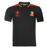 Belgium UEFA Euro 2016 Polo Shirt (Black)