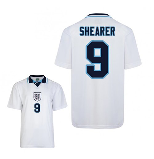 Score Draw England Euro 1996 Home Shirt (Shearer 9)