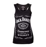 JACK DANIEL'S Woman's Old No.7 Brand Logo Tank Top, Medium, Black
