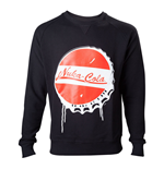 FALLOUT 4 Men's Nuka Cola Bottle Cap Sweater, Medium, Black