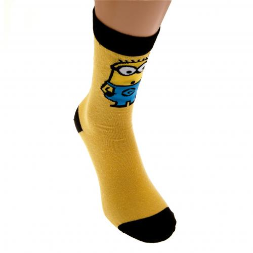 Minions Mens Socks 1 Pack 6-11 YB
