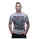 Bombonera Sky View T-Shirt // Grey Mêlée 100% cotton