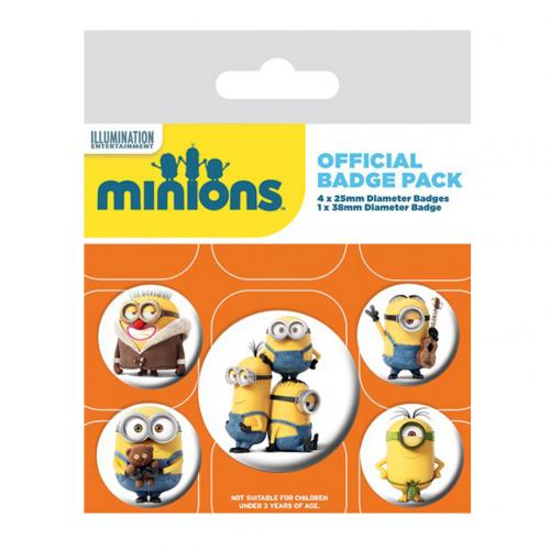 Minions Button Badge Set