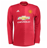 2016-2017 Man Utd Adidas Home Long Sleeve Shirt