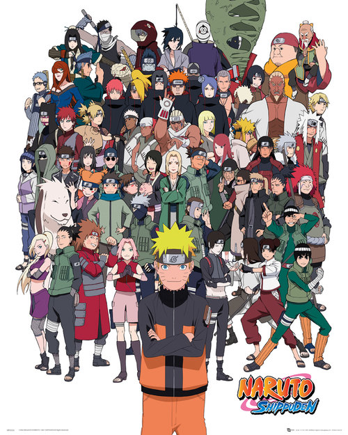 Naruto Shippuden Group Mini Poster
