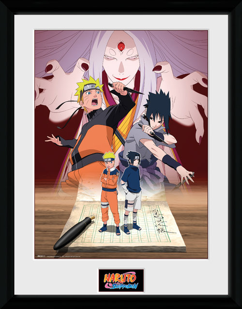 Naruto Shippuden Naruto and Sasuke Framed Collector Print