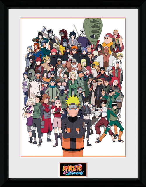 Naruto Shippuden Group Framed Collector Print