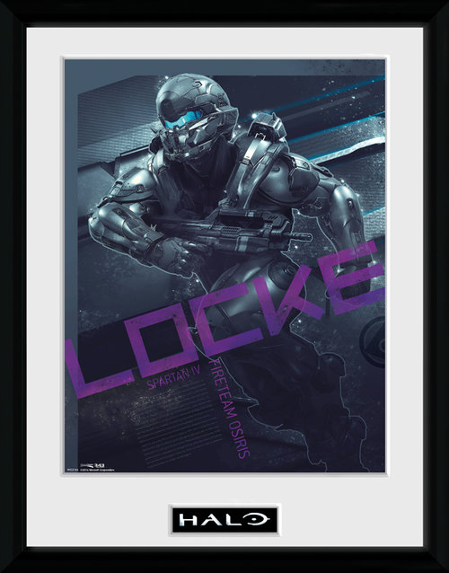 Halo Locke Framed Collector Print