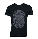 GUINNESS Distressed Black Label Tee Shirt