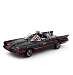 Batman 1966 Batmobile with Batman and Robin Bendable Figures