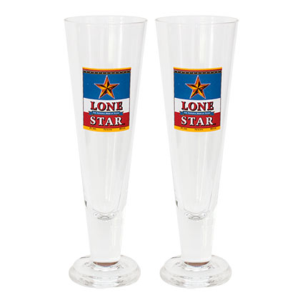 Lonestar Beer Pilsner Glass Set