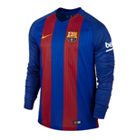 2016-2017 Barcelona Home Nike Long Sleeve Shirt