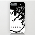 Alien iPhone 6 Plus Case Xenomorph Black & White Comic
