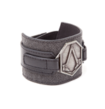 Assassins Creed Bracelet - Metal Patch Grey