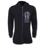 Rock Eternal - Mens Fish Tail Zipper Hoody - Zip Sleeves