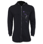 Entwined Skull - Ladies Fish Tail Full Zip Hoody - Zip Sleeve